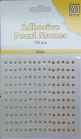 Nellie's Adhesive Pearl Stones 3mm APS304 Geel 150stuks/3mm