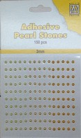 Nellie's Adhesive Pearl Stones 3mm APS304 Geel