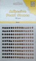 Nellie's Adhesive Pearl Stones 4mm APS405 Brons-Goud 150stuks/4mm