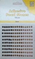 Nellie's Adhesive Pearl Stones 4mm APS405 Brons-Goud