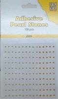Nellie's Adhesive Pearl Stones 2mm APS204 Geel 150stuks/2mm