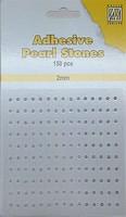 Nellie's Adhesive Pearl Stones 2mm APS207 Wit-Ivoor-Zilver 150stuks/2mm