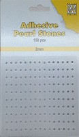 Nellie's Adhesive Pearl Stones 2mm APS207 Wit-Ivoor-Zilver