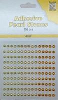 Nellie's Adhesive Pearl Stones 4mm APS404 Geel