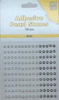 Nellie's Adhesive Pearl Stones 4mm APS407 Wit-Ivoor-Zilver