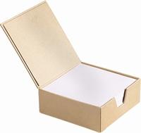 Papier Mache/Karton doos KP218735752 notitieblok box 11x10,5x4cm