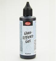 VIVA glas effect contour art.6567-800 Black (Schwarz)
