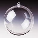 Transparante plastic bal deelbaar 14cm 14 cm