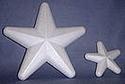Styropor ster/zeester afgeronde punten klein