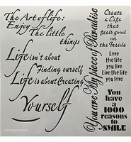 Stencil  12inchThe Art of Life Powertex 0509