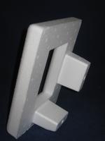 Styropor fotolijstje staand 21x16,5 cm, foto ruimte 8x12,5cm