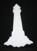 Vuurtoren snijvorm klein 25x10cm 3cm dik