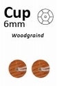 Pailletten Houtnerf wood facon 6mm art. 505  5 gram 500stuks