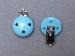 LeSuh houten speenkettingclip Baby blauw 450102 (1stuks)