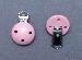 LeSuh houten speenkettingclip Baby roze 450104 (1stuks)