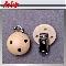 LeSuh houten speenkettingclip Naturel 450112 (1stuks)