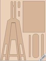 LeSuh kartonnen Schildersezeltje naturel bruin/3stuks 412952