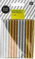 Rico Design lijmpatronen glitter goud en zilver 08645.25.06 0,7x10cm/12patr