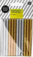 Rico Design lijmpatronen glitter goud en zilver 08645.25.06
