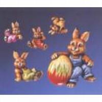 Gietvorm HobbyFun 2003003 Vrolijke hazen