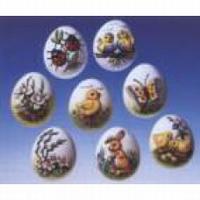 Gietvorm HobbyFun 2003.012 3D eieren met motief
