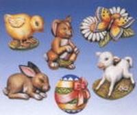 Gietvorm HobbyFun 2003.007 Paasfiguren kuiken, lammetje e.d