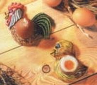 Gietvorm HobbyFun 2003.018 Eihouders Haan en Kuiken