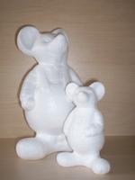 Styropor Muis met tuinbroek klein (VAE)