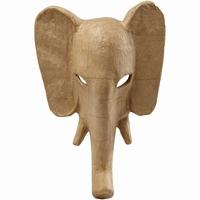 Creotime CCH26514 Papier mache Masker Olifant circa 34x24cm