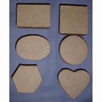 Papier-mache/Paper shape Micro doosjes assorti DH790200 6 doosjes/5x3cm