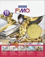 NIEUW Fimo bladmetaal Goud, Staedtler 8781-11 10vel/14x14cm