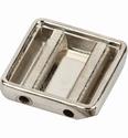Vierkant zilverkleur 24x24mm art. 48335  per 3 stuks