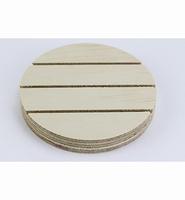 Deco Wood 422.901.999 Ronde voet met 3 sleuven (van 3mm) 12cm doorsnede