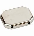 Rechthoek zilverkleur 35x25mm art. 48336 per 3 stuks