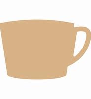 MDF K460.454.006 Koffie kopje modern 16x11cm./3mm dik