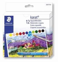 Staedtler 223C12 Karat aquarel, Aquarelkrijt 8mmx9,5cm