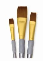 Royal & Langnickel RCC236 Brown Taklon flat penselen set set van 3