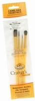 Royal & Langnickel RCC212 Camel hair penselen set set van 4 stuks