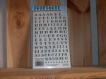 Rub-on transfer alfabet en cijfers zwart 24 x 14 cm