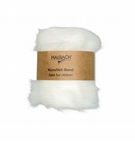 Halbach kunstfell-band/fake fur ribbon 100-11 Wit 120cmx10cm