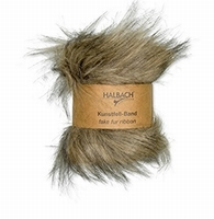 Halbach kunstfell-band/fake fur ribbon 100-79 Natural 120cmx10cm