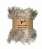 Halbach kunstfell-band/fake fur ribbon 100-21 Grey 120cmx10cm