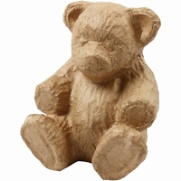 Papier Mache Creotime CCH50727 Teddybeer 18x15cm
