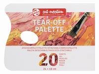 Talens AC 9067001M Tear-off palette 24cm 18x24cm 20vel