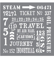 Deco Art Andy Skinner Stencil ANDY107-K Industrial 8inch