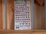 Rub-on transfers alfabet snoep 24 x 14 cm