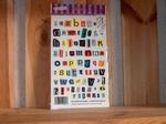 Rub-on transfers alfabet en cijfers gekleurd 24 x 14 cm