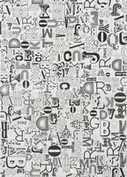 Paper Patch decoupagepapier 7009.136 Letters zwart op wit