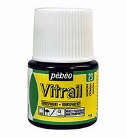 Pebeo glasverf Vitrail 23 Transparant Lemon Yellow 45ml