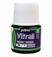 Pebeo glasverf Vitrail 25 Transparant Violet 45ml